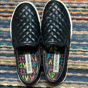 Steve Madden Black Sneakers Girls Size 2